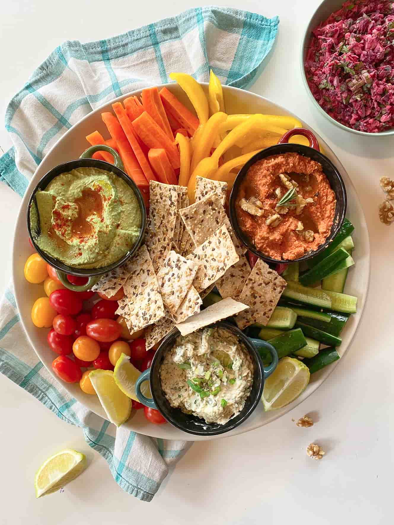 Ultimate-mediterranean-dips-platter-recipes-starters-sides
