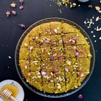 Healthy pistachio basboussa recipe