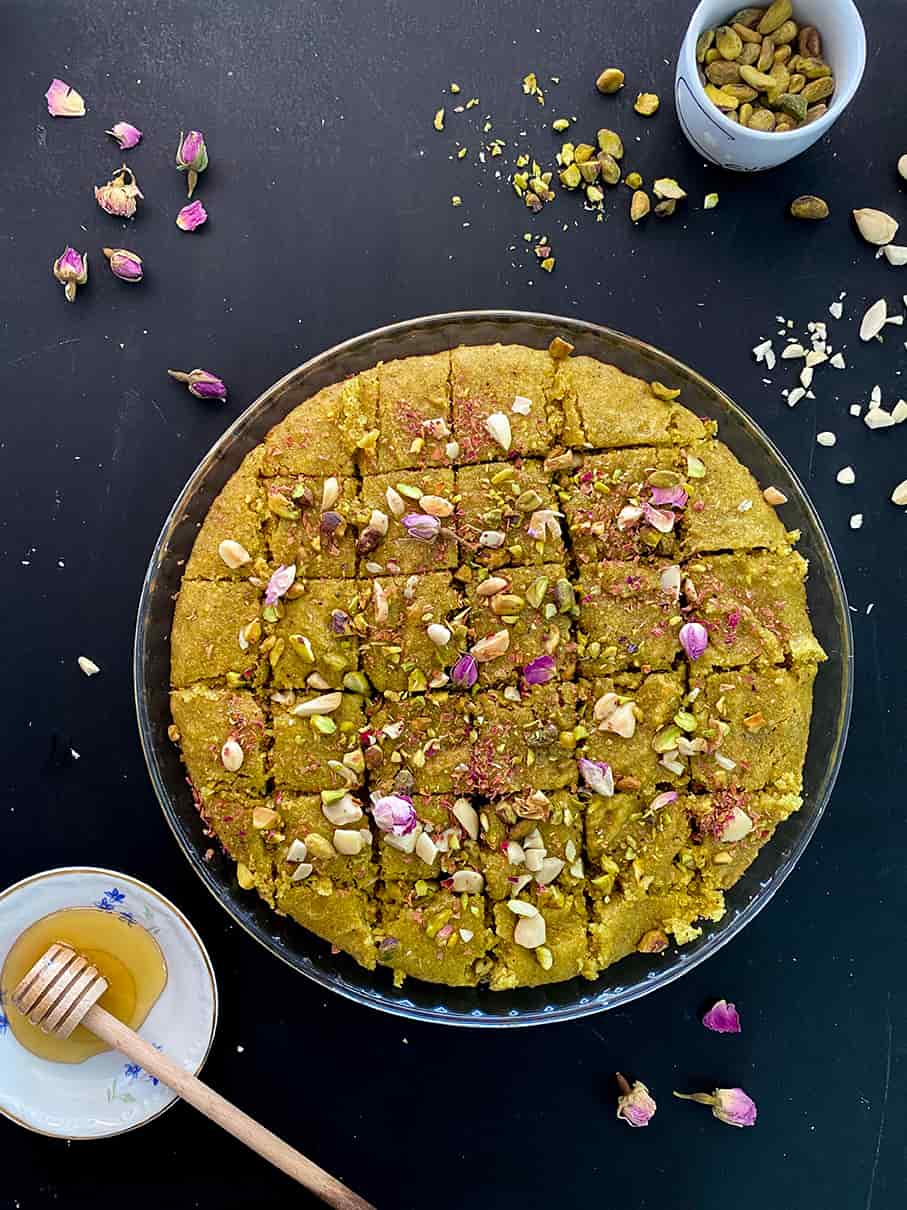 Healthy-Pistachio-basboussa-recipe-1-recipe-dessert